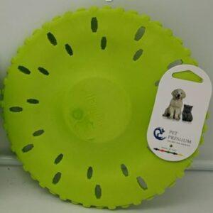 """צעצוע פריסבי ספוג קשיח ירוק """"פואם נאבל"""" לכלב"""