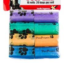 חבילת 16 שקיות צבעוניות לאיסוף צרכים