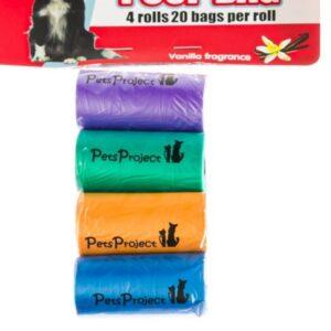 חבילת 4 שקיות צבעוניות לאיסוף צרכים